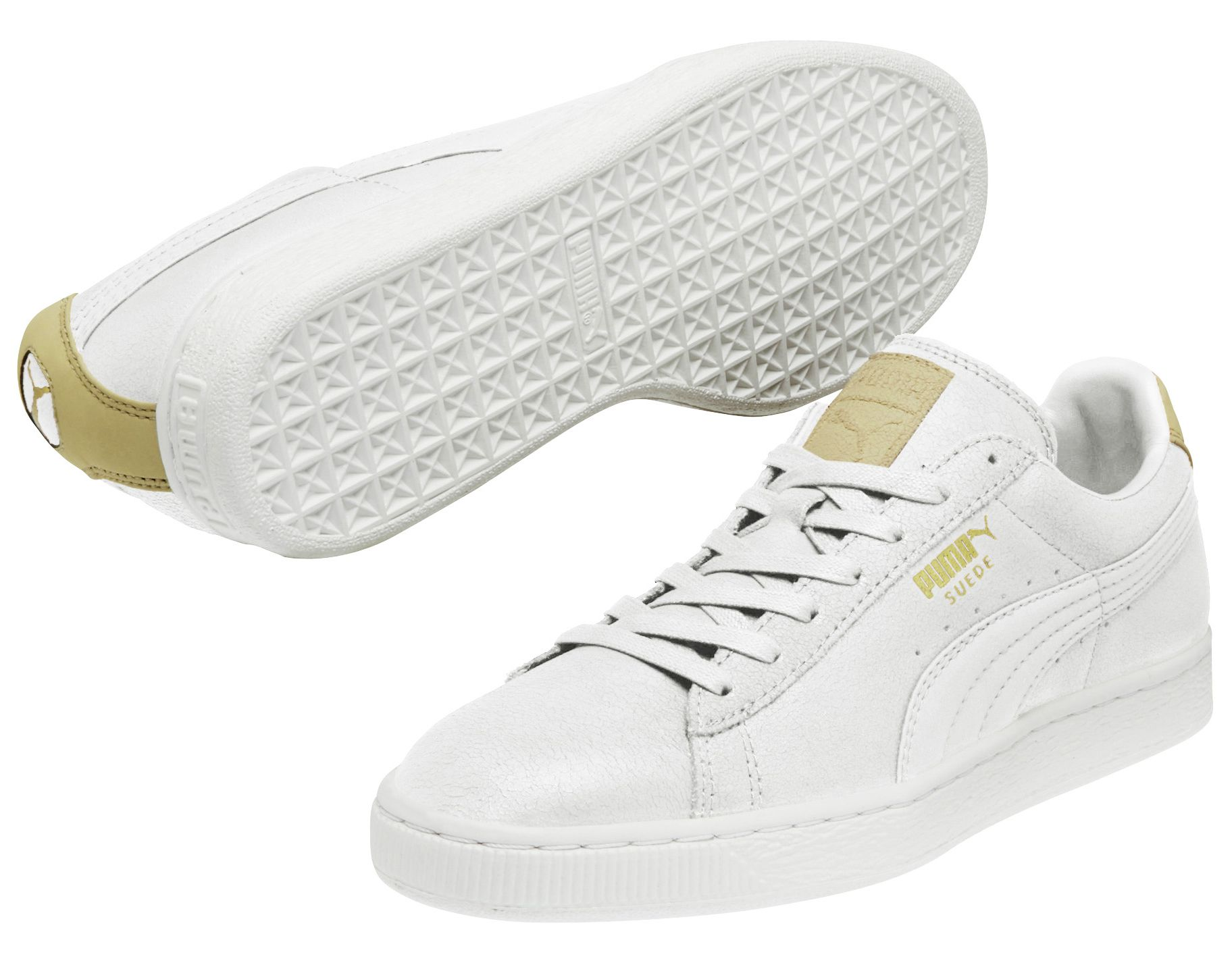 Chaussures Puma Suede blanches femme Ng0oB